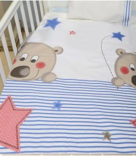 Baby Oliver des.160 Σεντόνια Κούνιας  Σετ 3 τμχ - Λιανική Τιμή: 25€