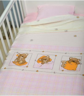 Baby Oliver des.161 Σεντόνια Κούνιας  Σετ 3 τμχ - Λιανική Τιμή: 25€