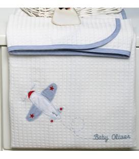 Baby Oliver des.145 Κουβέρτα Πικέ Αγκαλιάς - Λιανική Τιμή: 23€