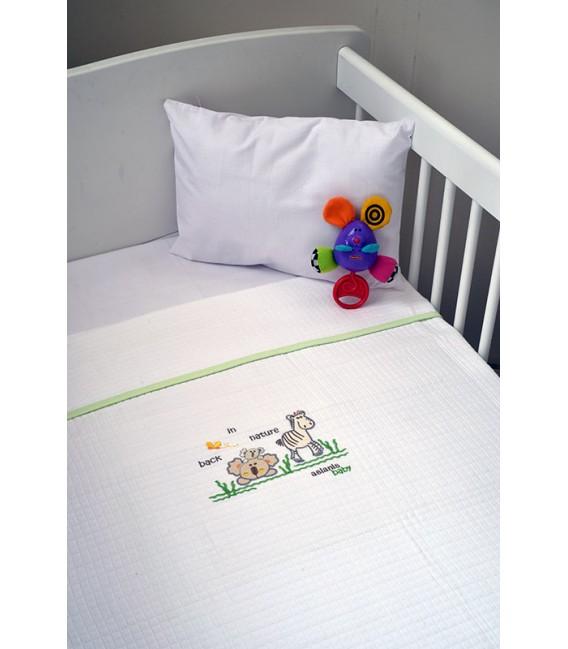 Aslanis Baby des.504 Κουβέρτα Πικέ Κούνιας - Λιανική Τιμή: 42€