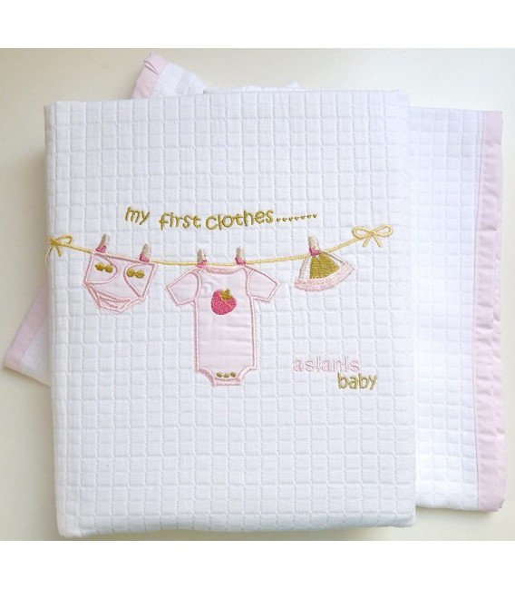 Aslanis Baby des.505 Κουβέρτα Πικέ Κούνιας - Λιανική Τιμή: 42€