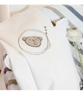 Baby Oliver des.604 Κουβέρτα Πικέ Αγκαλιάς - Λιανική Τιμή: 22€