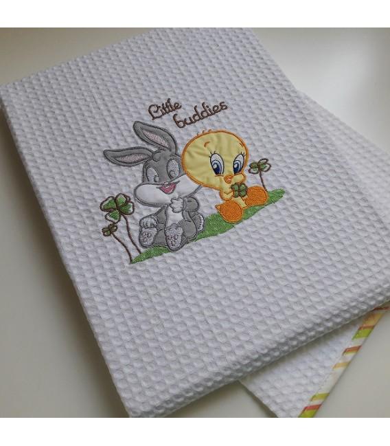 Baby Looney Tunes des.30c Κουβέρτα Πικέ Αγκαλιάς - Λιανική Τιμή: 34€