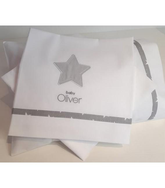 Baby Oliver des.301 Σεντόνια Λίκνου  Σετ 3 τμχ - Λιανική Τιμή: 19,90€
