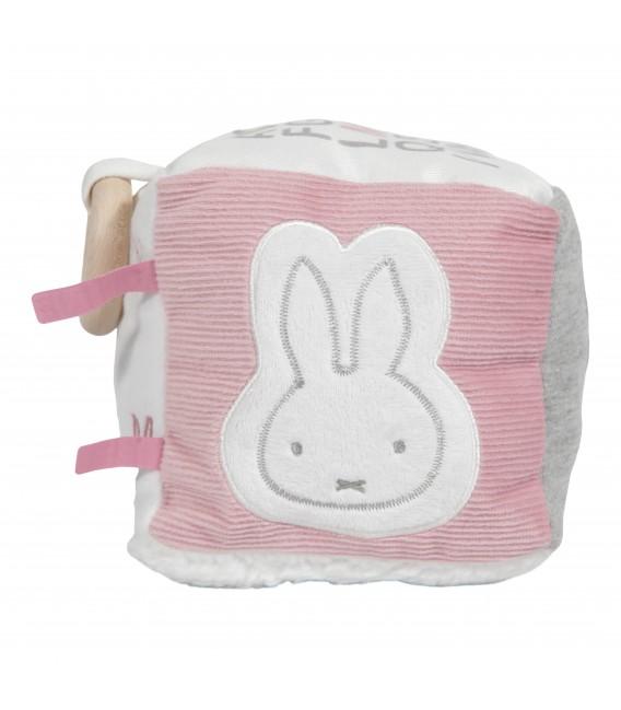 Κύβος δραστηριοτητων με εσωτερικό κουδουνάκι Miffy pink - ΛΙΑΝΙΚΗ ΤΙΜΗ 16 €