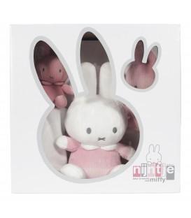 Σετ δώρου : Λουτρινο 20 εκ-πανάκι παρηγοριάς-κουδουνίστρα συσκευασία κουτί Miffy pink - ΛΙΑΝΙΚΗ ΤΙΜΗ 35.00 €