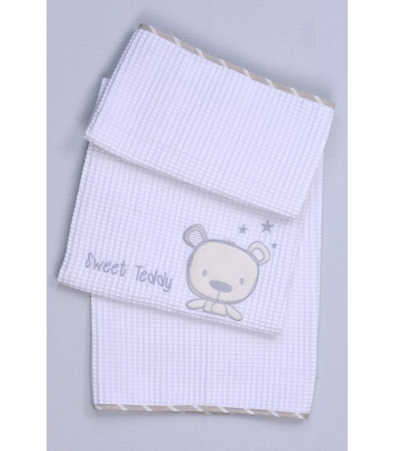 Baby Oliver des.350 Κουβέρτα Πικέ Κούνιας – Λιανική τιμή: 31.50€