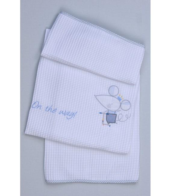 Baby Oliver des.351 Κουβέρτα Πικέ Αγκαλιάς – Λιανική τιμή: 23.00€