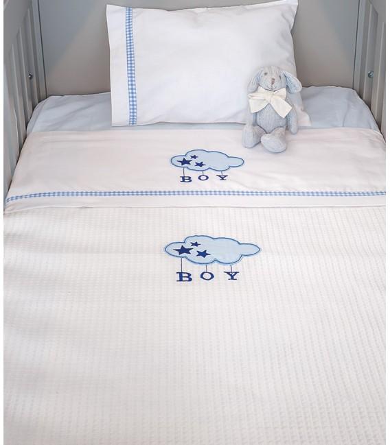 Baby Oliver des.143 Κουβέρτα Πικέ Αγκαλιάς - Λιανική Τιμή: 19€